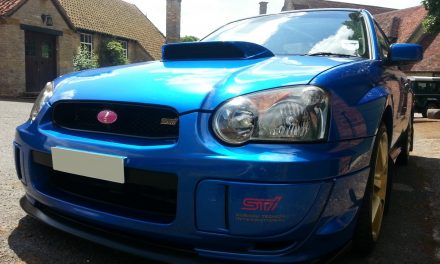 Pink STi Badge Emblem Fitment