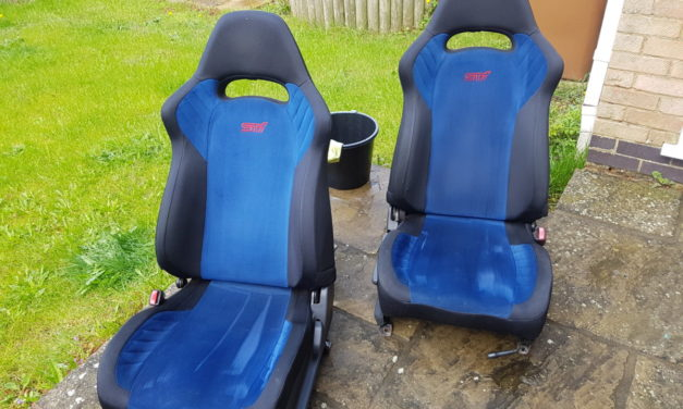 Swapping V8 Blobeye STi Seats with Bugeye V7 STi Seats